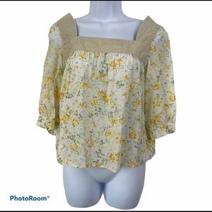 Authentic Spick and Span Cottagecore Babydoll Top